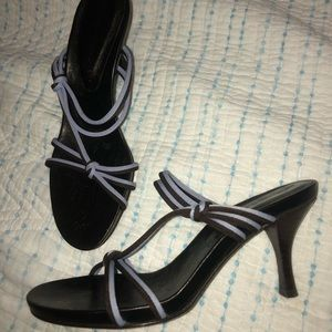 Donald J Pliner heels in sz 5 Brown and Periwinkle